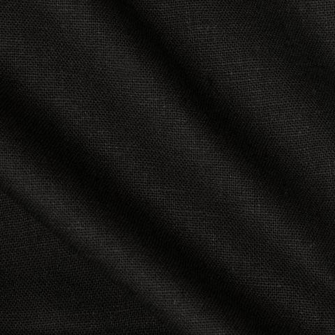 BLACK SOLID POLY LINEN FABRIC