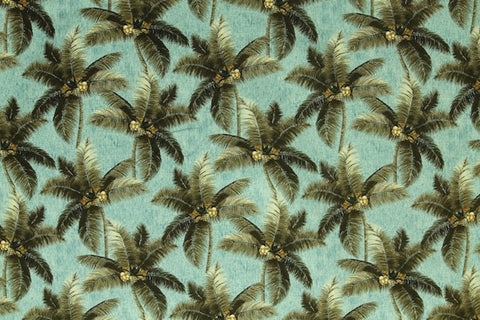 Hawaiian Coconut Tree Upholstery Barkcloth Fabric