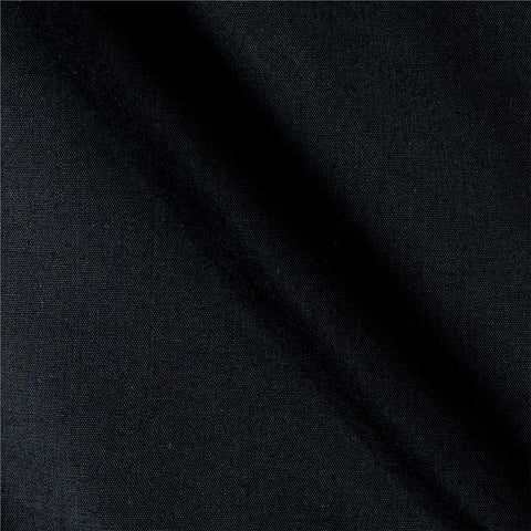 Black Solid PolyCotton Fabric