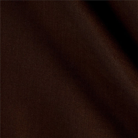 Brown Solid Polycotton Fabric