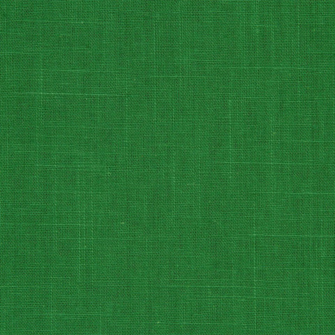 Emerald Green Solid Poly Linen Fabric