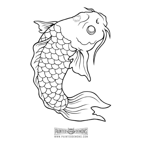 KOI FISH VECTOR ART
