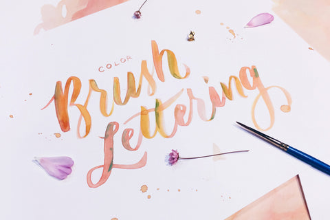 Color Brush Lettering Workshop