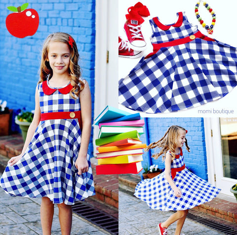 School girl Plaid dress