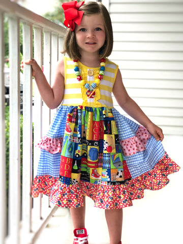 Code: Fireworks School Day Platinum party style Dress