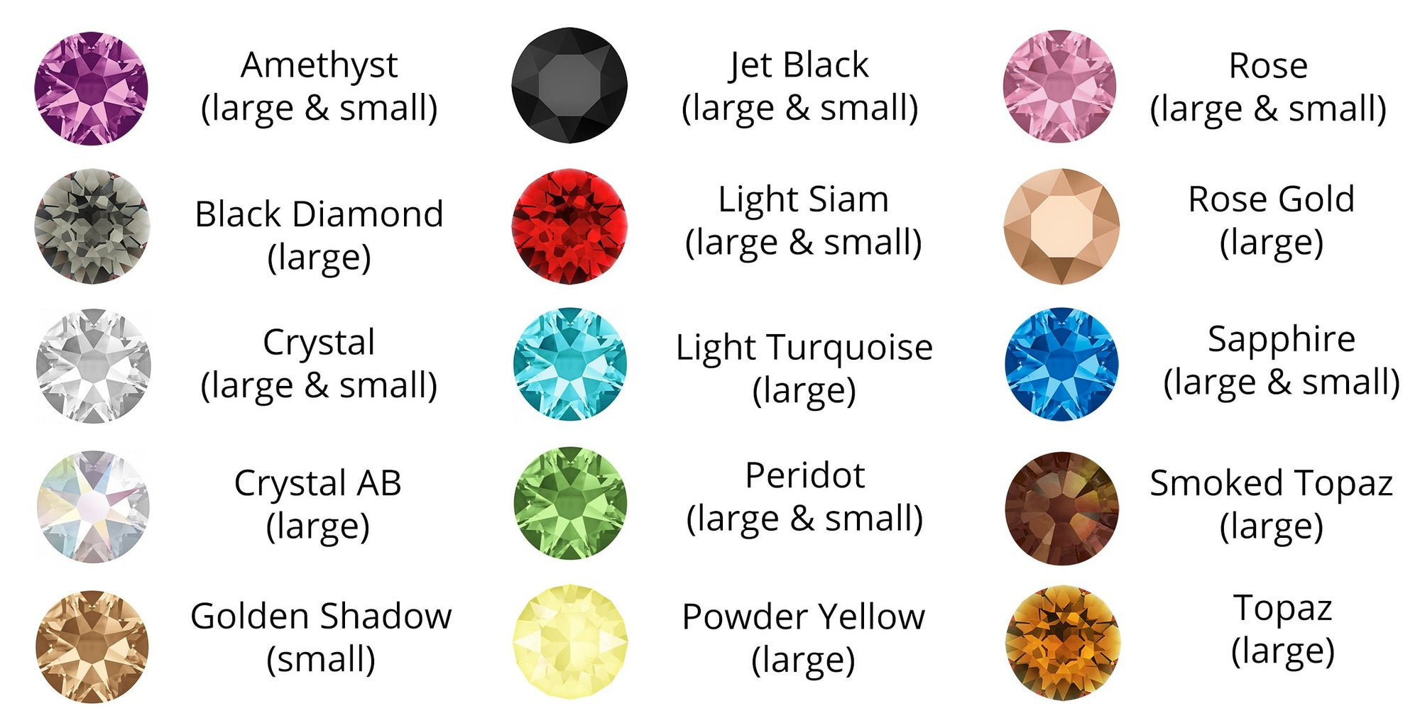 crystal dog collar colour options