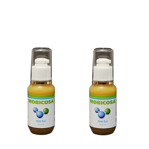 Two bottles of Mobicosa Joint Gel