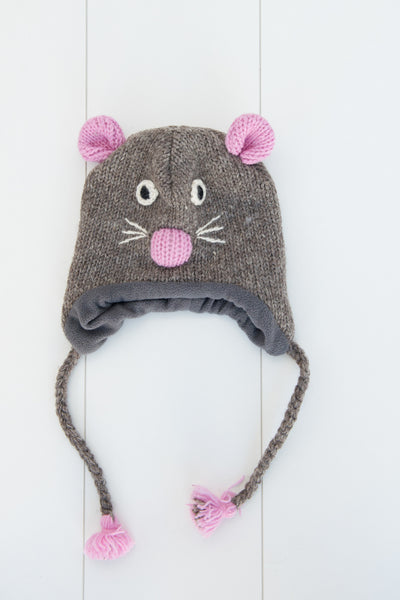 Hand-knitted Mouse Beanie