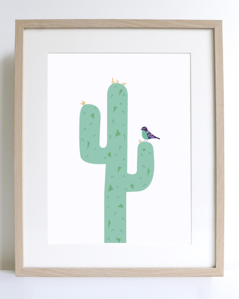 "Sprout & Sparrow Art Print ""Prickly Cactus"""