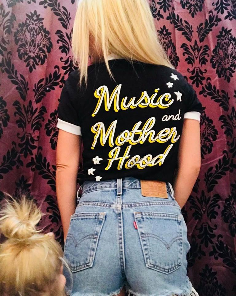 Music and Motherhood Ringer Tee