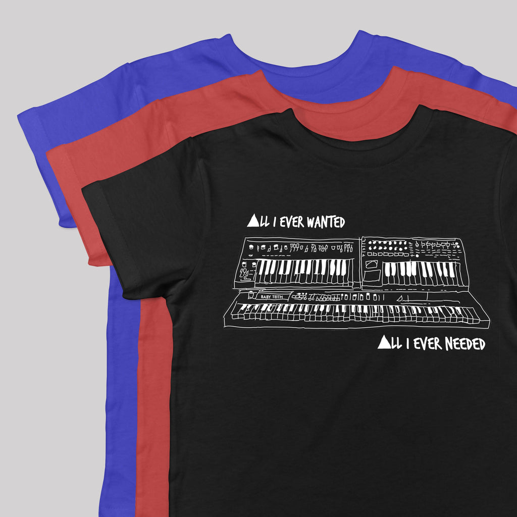 """All I Ever Wanted"" Synth tee Inspired by Depeche Mode"