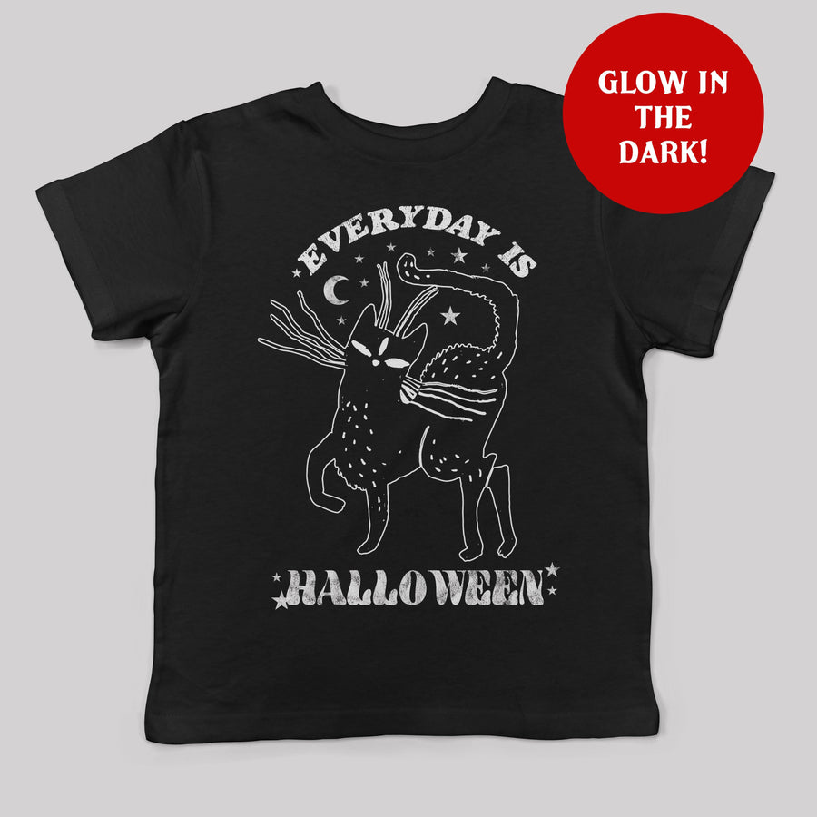 Everyday is Halloween Glow in the Dark Kids Tee