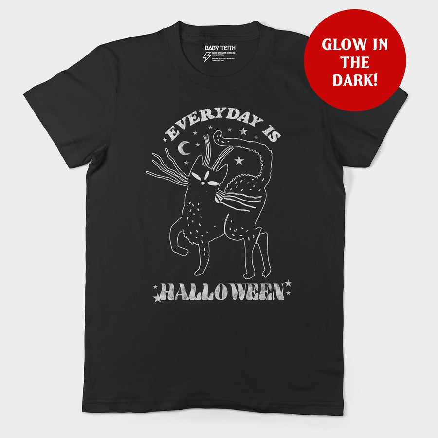 Everyday is Halloween Glow in the Dark Unisex Tee for Adults
