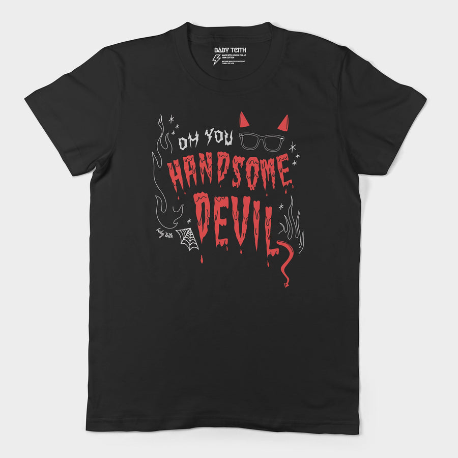 Handsome Devil Halloween Unisex Tee for Adults