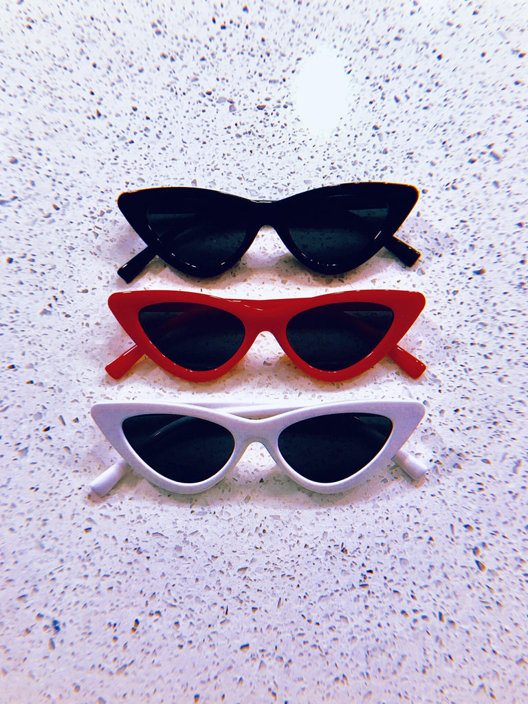 Retro White Cateye Sunnies for Kids