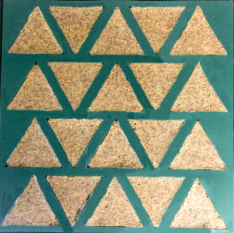 "Dehydrator Triangle Chip Mold Silicone Mat for Excalibur Dehydrators 14"" x 14"""