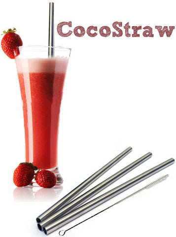 Stainless Steel Drinking Straw - STRAIGHT Style