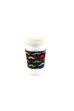 Reversible Coffee Sleeves - Primary Moustaches