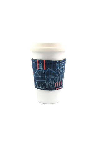 Reversible Coffee Sleeve - Indigo City