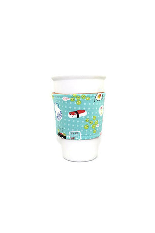 Reversible Coffee Sleeve - Happy Sushi