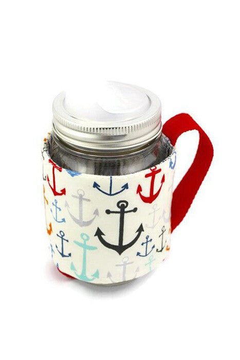 Mason Jar Sleeve - Modernist Anchor