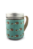 Mason Jar Sleeve - Hedgehog