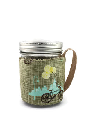 Mason Jar Sleeve - City Cycle
