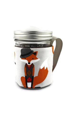 Mason Jar Sleeve - Dapper Fox