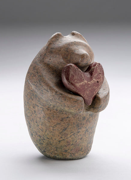 Speckled Bronze Bear With Heart Gift