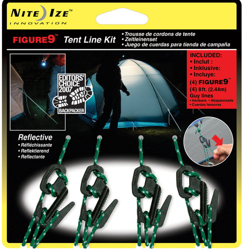 NiteIze Figure 9 Tent Kit - Package of 4
