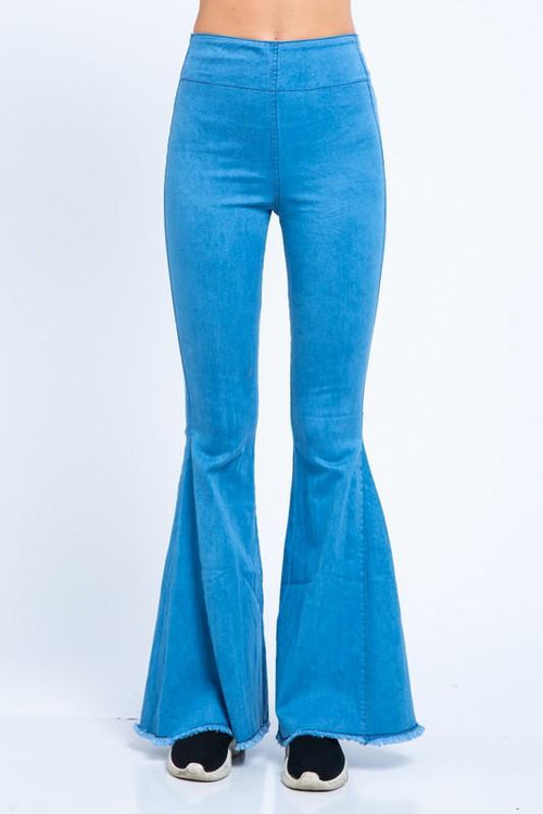 Laci Denim Long Flare Pants