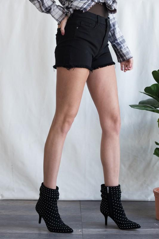 Casey Black Denim Shorts