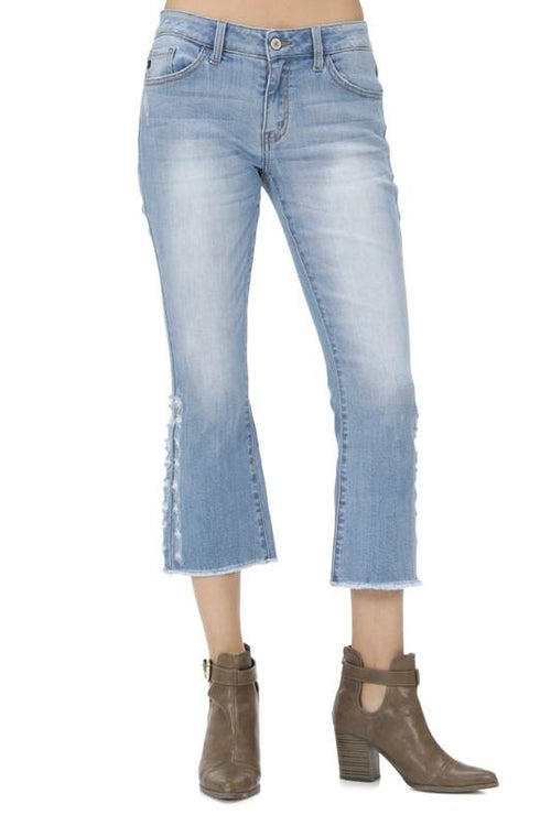 Val Cropped Flared Jeans