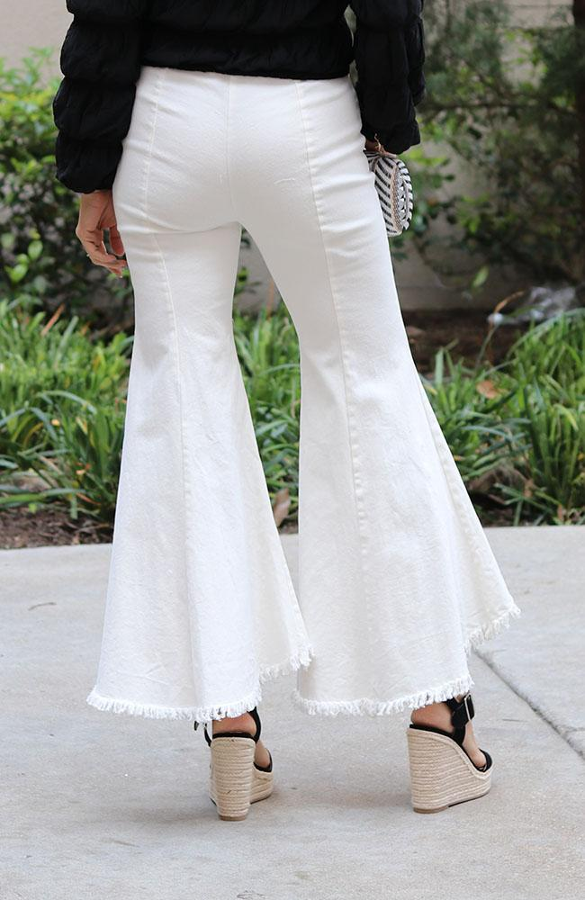 Jenny White Denim Flare Pants