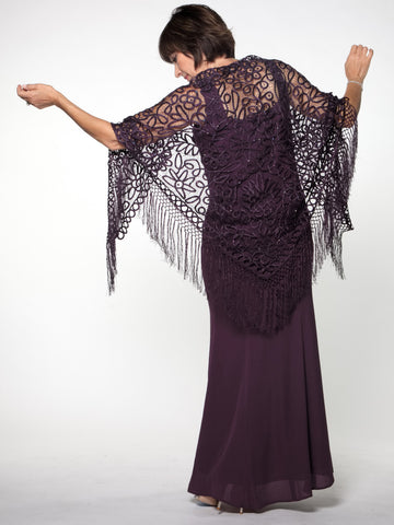 C302 Beaded Handmade Shawl