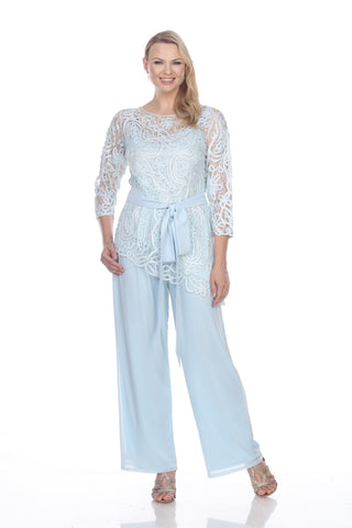 1604 SOUTACHE ASYMMETRICAL TUNIC PANTS SET