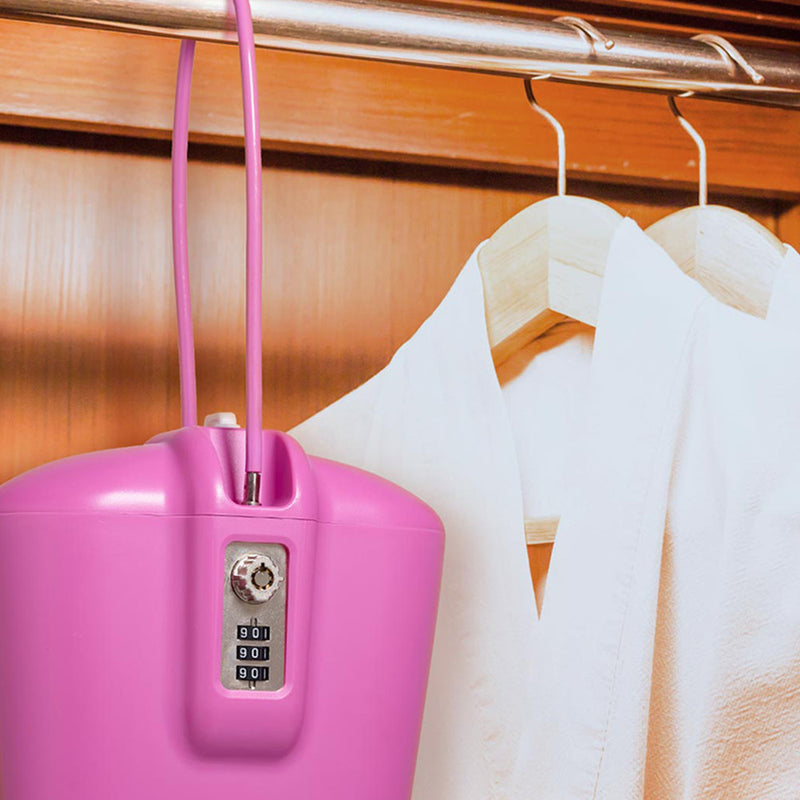 pink closet safe over hanger rod for adults and kids