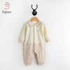 Organic Cotton Baby Rompers - Pecan + Peach Kids