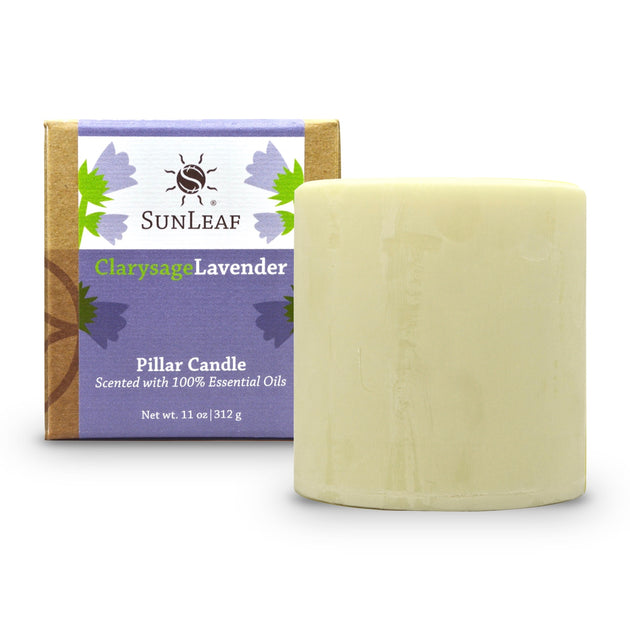 Natural Pillar Candle - SunLeaf Naturals®