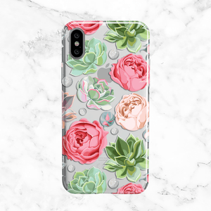 Succulents and Flowers iPhone X Case