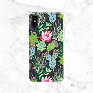 Colorful Succulent Clear Phone Case