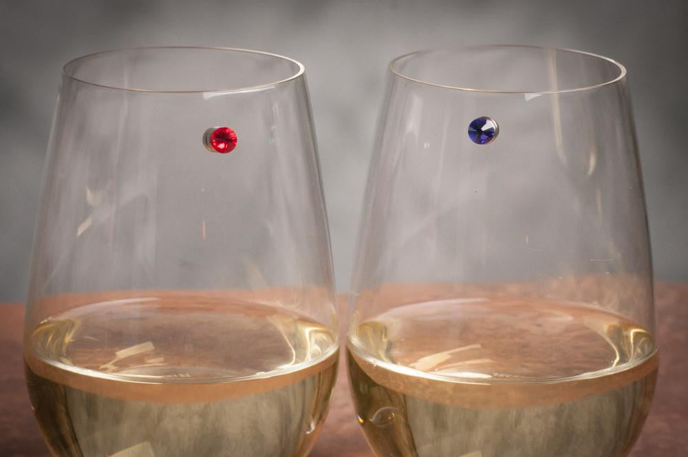 wine charms stemless magnetic Swarovski