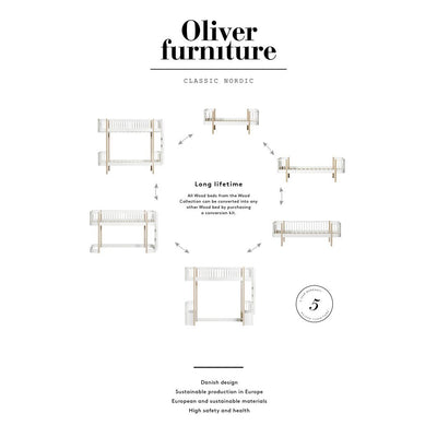 Oliver Furniture, Wood sofaseng - hvit