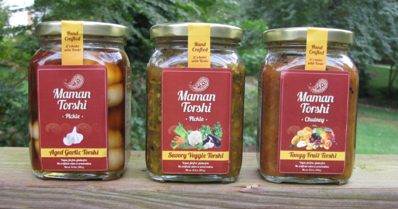 Three unique products of Maman Torshi