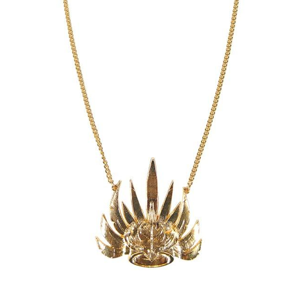 Golden Crown Necklace