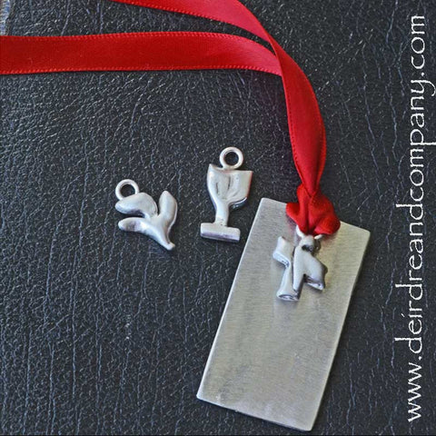 Sacraments Fully Customizable Bookmark in Pewter