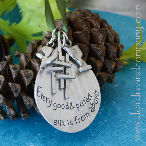 Faith Journey Marker Ornament Set in Pewter ~ Small