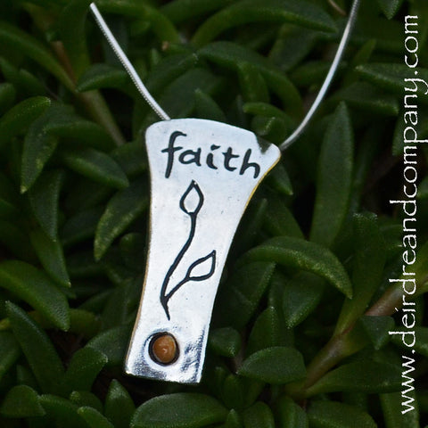 Have Faith Sterling Necklace with  Mustard Seed