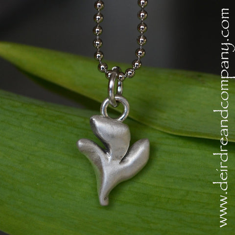 Sacraments Holy Spirit Dove Necklace in Pewter