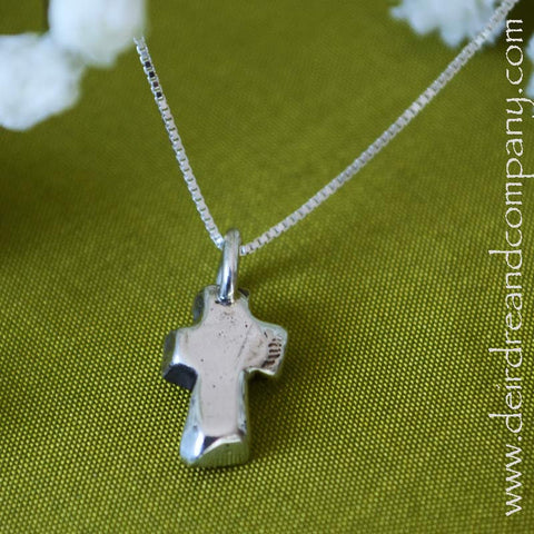 Sacraments Cross Necklace in Sterling Silver